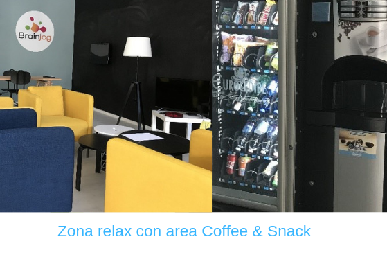 Coworking Brainjog - Zona relax con area Coffee & Snack