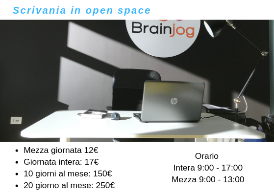 Coworking Brainjog - Scrivania in open space