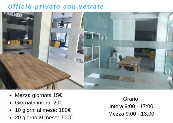 Coworking Brainjog - Ufficio privato con vetrate